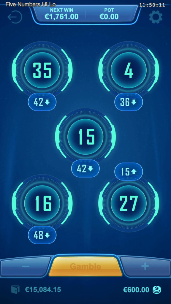 รีวิว Five Numbers Hi Lo